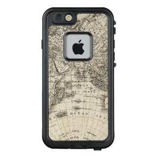 Vintage Map Of Europe and Asia LifeProof FRĒ iPhone 6/6s Case