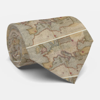 Vintage Map of Europe and The Mediterranean (1569) Neck Tie