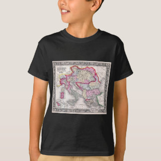 Vintage Map of Europe Austria Italy Turkey Greece T-Shirt