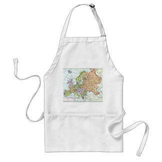 Vintage map of Europe colorful pastels Adult Apron