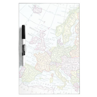 Vintage map of Europe colorful pastels Dry-Erase Board