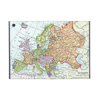 Vintage map of Europe colorful pastels iPad Mini Covers