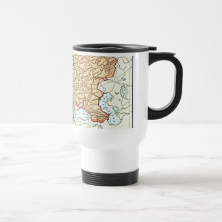 Vintage map of Europe colorful pastels Coffee Mugs