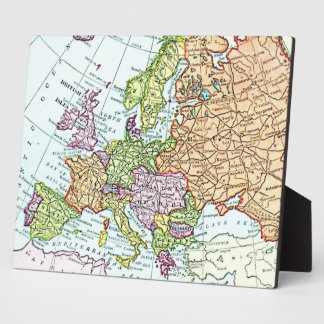 Vintage map of Europe colorful pastels Plaques