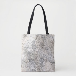Vintage Map of Europe - European Travel Gift Tote Bag