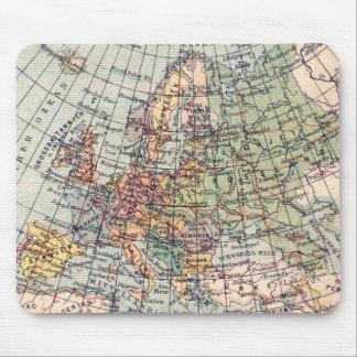 Vintage Map Of Europe Mousepad