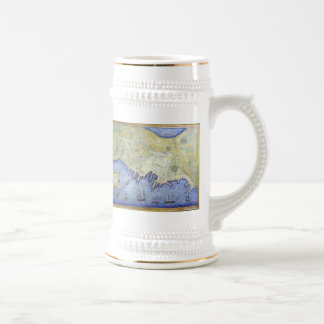 Vintage Map of Falmouth Neck Maine (1775) Beer Stein