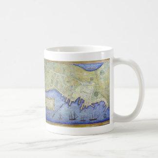 Vintage Map of Falmouth Neck Maine (1775) Coffee Mug