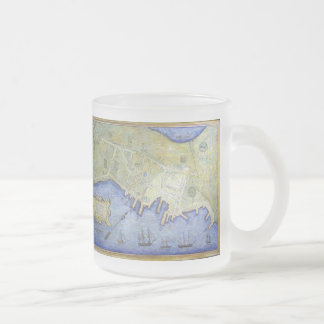 Vintage Map of Falmouth Neck Maine (1775) Frosted Glass Coffee Mug