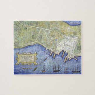 Vintage Map of Falmouth Neck Maine (1775) Jigsaw Puzzles