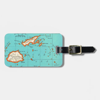 Vintage Map of FIJI Luggage Tag
