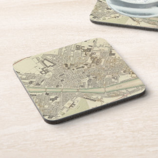 Vintage Map of Florence Italy (1835) Coasters