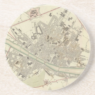 Vintage Map of Florence Italy (1835) Drink Coaster