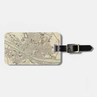 Vintage Map of Florence Italy (1835) Luggage Tag