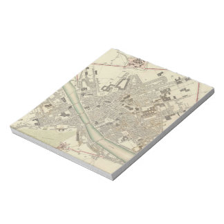Vintage Map of Florence Italy (1835) Notepad