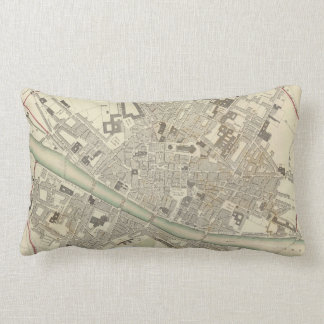 Vintage Map of Florence Italy (1835) Pillow