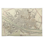Vintage Map of Florence Italy (1835) Place Mat