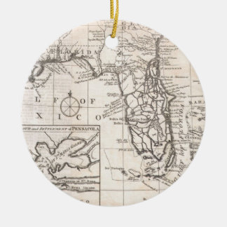 Vintage Map of Florida (1763) Ceramic Ornament