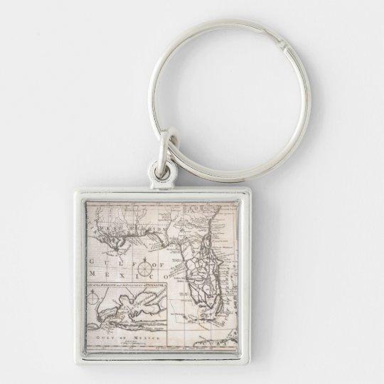 Vintage Map of Florida (1763) Keychain