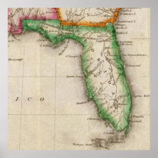 Vintage Map of Florida (1822) Poster