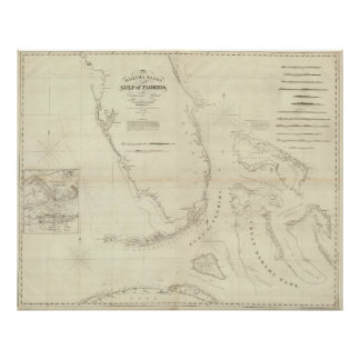 Vintage Map of Florida (1827) Poster