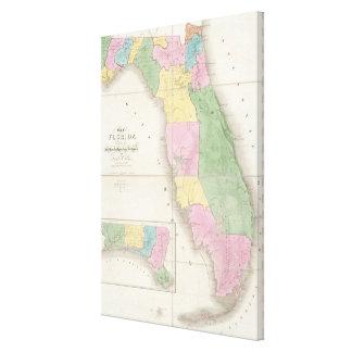 Vintage Map of Florida (1839) Canvas Print