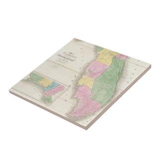 Vintage Map of Florida (1839) Ceramic Tile