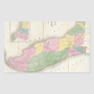 Vintage Map of Florida (1839) Rectangular Sticker