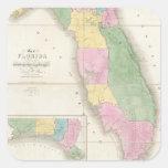 Vintage Map of Florida (1839) Square Sticker