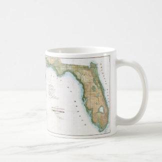 Vintage Map of Florida (1848) Coffee Mug