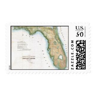 Vintage Map of Florida (1848) Postage