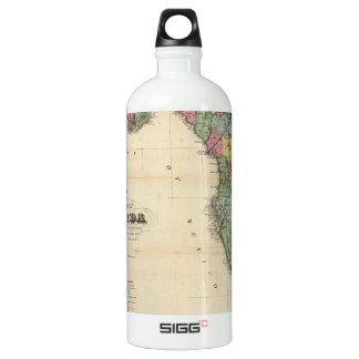 Vintage Map of Florida (1870) Aluminum Water Bottle