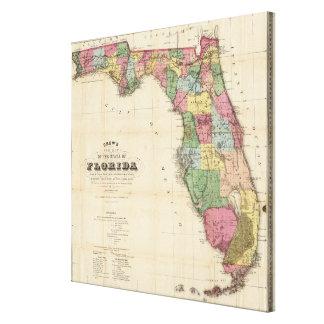 Vintage Map of Florida (1870) Canvas Print