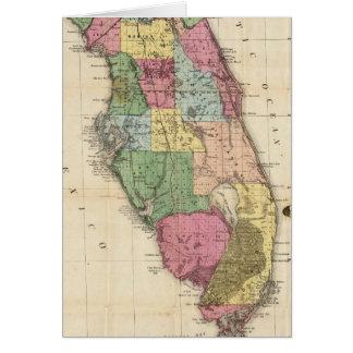 Vintage Map of Florida (1870) Card