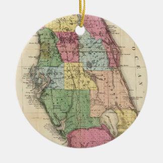Vintage Map of Florida (1870) Ceramic Ornament