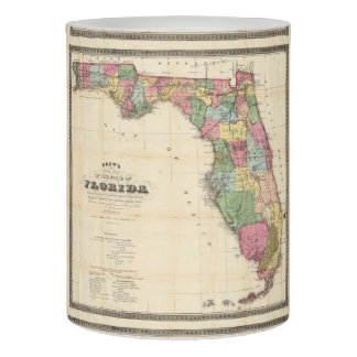 Vintage Map of Florida (1870) Flameless Candle