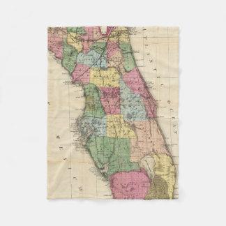 Vintage Map of Florida (1870) Fleece Blanket