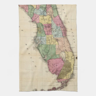 Vintage Map of Florida (1870) Hand Towel