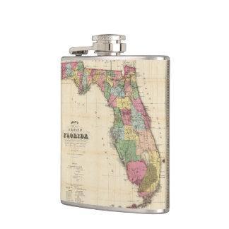 Vintage Map of Florida (1870) Hip Flask