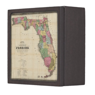Vintage Map of Florida (1870) Jewelry Box