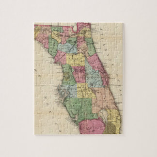 Vintage Map of Florida (1870) Jigsaw Puzzle