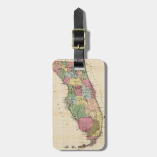 Vintage Map of Florida (1870) Luggage Tag