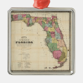 Vintage Map of Florida (1870) Metal Ornament