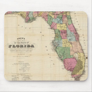 Vintage Map of Florida (1870) Mouse Pad