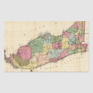 Vintage Map of Florida (1870) Rectangular Sticker