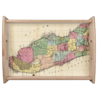 Vintage Map of Florida (1870) Serving Tray