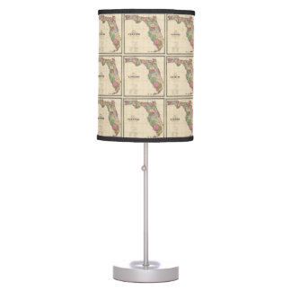 Vintage Map of Florida (1870) Table Lamp
