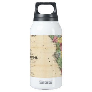 Vintage Map of Florida (1870) Thermos Bottle