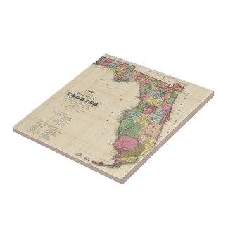 Vintage Map of Florida (1870) Tile