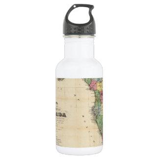 Vintage Map of Florida (1870) Water Bottle